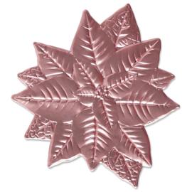 665354 Sizzix 3D Impresslits Embossing Folder Poinsettia By Kath Breen