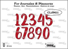CLJP611 Crealies Journalzz & Pl Stans cijfers no. 5