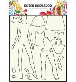 470.715.803  Dutch DooBaDoo Dutch Mask Art A4 Dress up doll
