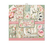 SBBS08 Stamperia House of Roses 8x8 Inch Paper Pack