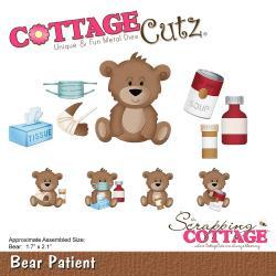 """321972 CottageCutz Die Bear Patient, 1.7""""X2.1"""""""