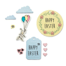 665065 Sizzix Framelits Die Set - 9PK w/Stamps - Easter Fun Lisa Jones