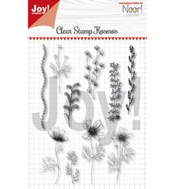 6410/0499 clear stamp Noor Condoleance Kosmos