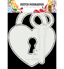 470.713.844 Dutch DooBaDoo Card Art Key to my heart