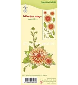 555749 3D  Clear stamp Flower Chrysanthemum