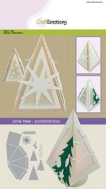 115633/1506 CraftEmotions Die - denneboom - piramide box Card A5 box