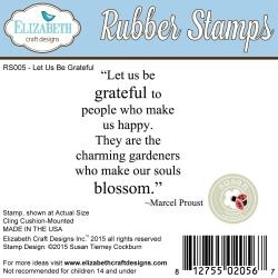 377814 Elizabeth Crafts Cling Mounted Stamps Let Us