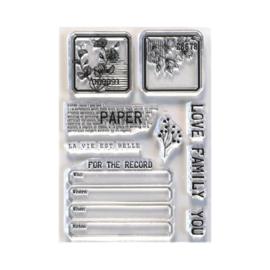 EC-CS214 Elizabeth Craft Clear Stamps Paper Love