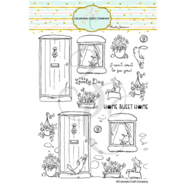 """C3AJ487 Colorado Craft Company Clear Stamps Home Sweet Home-By Anita Jeram 6""""X8"""""""