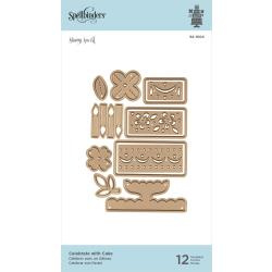 S4104 Spellbinders Shapeabilities Dies Celebrate With Cake