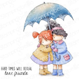 662025 Stamping Bella Cling Stamps Tiny Townie Under An Umbrella