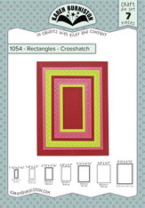"KBR1054 Karen Burniston Dies Rectangles Crosshatch 1.125"" To 5.375"""