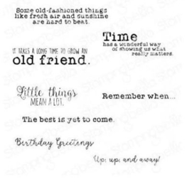 EB937 Stamping Bella Cling Stamps Edgar And Molly's Vintage Sentiments