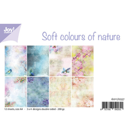 6011/0557 Papier Set Soft colours of nature A4