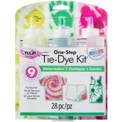 430345 Tulip One-Step Tie-Dye Kit 3-Color 3-Color Watermelon