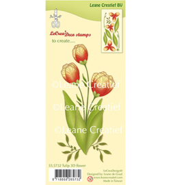 555732 3D  Clear stamp Flower Tulip