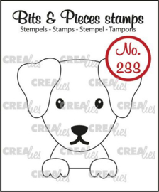 CLBP233 Crealies Clearstamp Bits & Pieces Hond