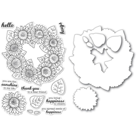 CL5253D Memory Box Stamp & Die Set Sunflower Wreath