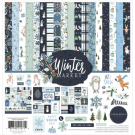 "635936 Carta Bella Collection Kit Winter Market 12""X12"""