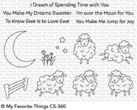 CS-360 My Favorite Things Over the Moon for Ewe Clear Stamps