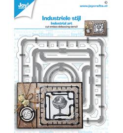 6002/1458 Snij-debos-embosstansmal industrieel frames