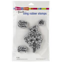 580541 Stampendous Cling Stamp Anemone Smile