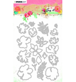 SL-SWF-CD402 StudioLight SL Cutting & Emb. Die Say it with flowers nr.402