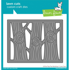 LF2451 Lawn Cuts Custom Craft Die Lift The Flap Tree Backdrop