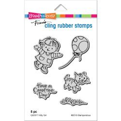560379 Stampendous Cling Stamp Kitty Girl