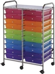 406789 Storage Trolley Double Multi-Color