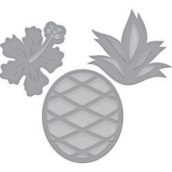 S3337 Spellbinders Indie Line Shapeabilities Dies Tropical Pineapple
