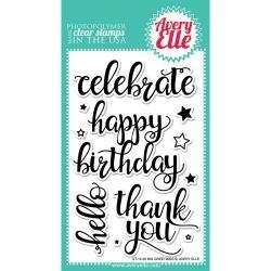 "336430 Avery Elle Clear Stamp Set Big Greetings 4""X6"""