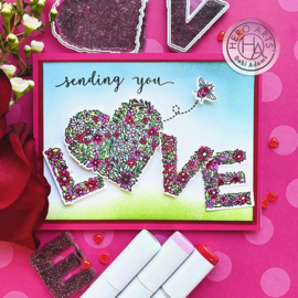 647527 Hero Arts Frame Cut Dies Floral Love