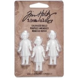 "TH93196 Idea-Ology Salvaged Dolls 1.75"" 3/Pkg"
