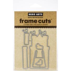 602703 Hero Arts Frame Cut Dies Build A Castle