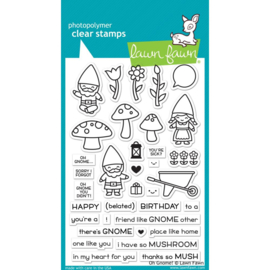 "LF1880 Lawn Fawn Clear Stamps Oh Gnome! 4""X6"""
