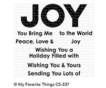 CS-337 My Favorite Things Filled with Joy Clear Stamps