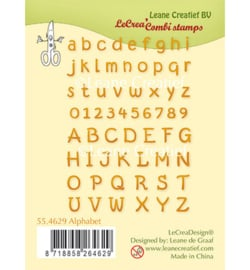 55.4629 Leane Creatief Clear Stamp Alphabet & numbers