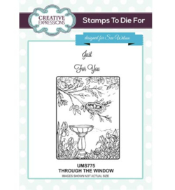 UMS775 Stamps To Die For Sweet Through The Window