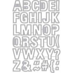 257325 Hero Arts Frame Cut Dies Luggage Tag Alphabet