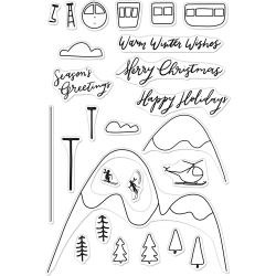 "520946 Hero Arts Clear Stamps Ski Holiday 4""X6"""