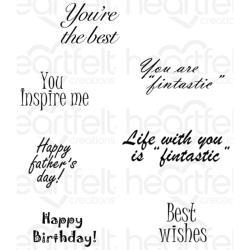 323447 Heartfelt Creations Cling Rubber Stamp Set Heartfelt Wishes