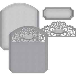 S5287 Spellbinders Shapeabilities Dies Pocket Elegante