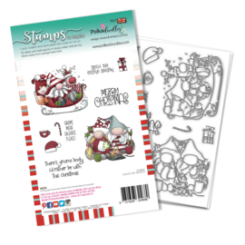 PD8098A Polkadoodles Sleigh the Season Clear Stamps