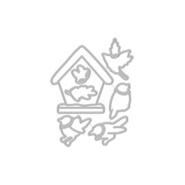661886 Hero Arts Fancy Dies Christmas Robins Frame Cuts