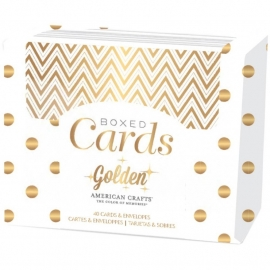 330689 American Crafts A2 Cards & Envelopes Golden-Gold Foil