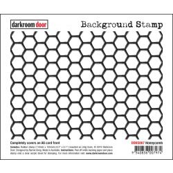 "DDBS067 Darkroom Door Background Cling Stamp Honeycomb 4.3""X6.1"""