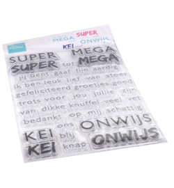 CS1066 Marianne Design Clear Stamps SUPER-MEGA-KEI-ONWIJS