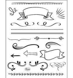 4003.170.00 ViVa Clear Stamps  Lettering Element / Banner