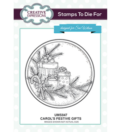UMS847 To Die For Stamp Carol's Festive Gifts